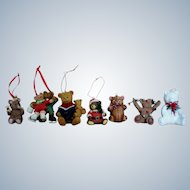 Ceramic Bears Christmas Tree Ornaments