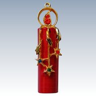 Holiday / Christmas Candle Pendant by ART