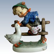 "Hummel Figurine Boy and Goose titled ""Barnyard Hero"""