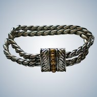 Magnetic Silver and Gold tone Rope Bracelet