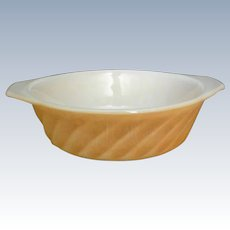Anchor Hocking Fire King Peach Luster Swirl Casserole Baking Dish