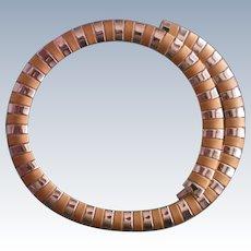 Avon Egyptian Style Two tone Snake Necklace