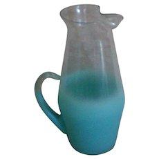 West Virginia Glass Blendo Glass Beverage or Barware Pitcher