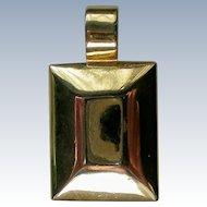 Gold Tone Rectangular Pendant from Premier Designs