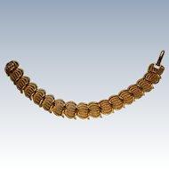 Signed Napier Gold tone Link Bracelet