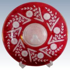 Ruby Cut to Clear Large Cake Serving Plate