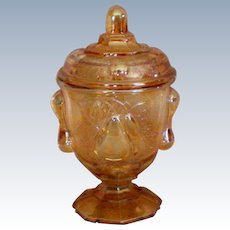 Pear Covered Compote or Candy Jar