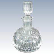 Round Cut Glass Perfume Bottle