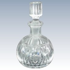 Round Cut Glass Perfume Bottle