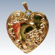 Heart Shaped Pendant with LOVE Inscription