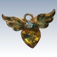 Avon Flying Heart Birthstone Tie Tac / Lapel Pin