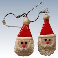 Santa Dangle Christmas Holiday Earrings