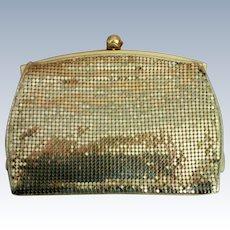 Whiting & Davis Gold Metal Mesh Clutch Purse