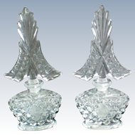 I W Rice Identical Glass Perfume Bottles