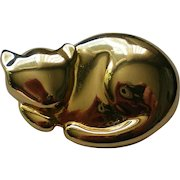 1994 Liz Claiborne Gold tone Cat Pin
