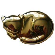 1994 Liz Claiborne Gold tone Cat Pin