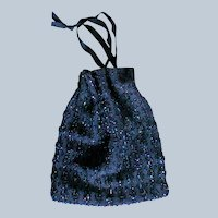 Beaded Draw String Evening Bag / Purse