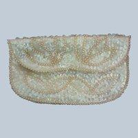 Beaded Sequin Evening Envelope Clutch Bag