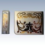 Elgin American Matching Power Compact and Lipstick Holder – Original Box