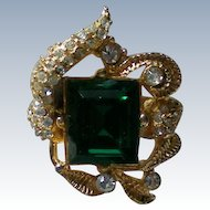 Emerald Green Stone Cocktail Ring