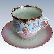 German Porcelain Cup and Saucer