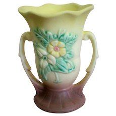 Hull Pottery Wildflower Double Handled Vase