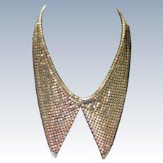 Vintage Gold Mesh Split V Necklace