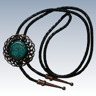 Faux Turquoise and Copper Bolo Tie Clip