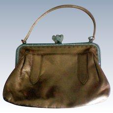 Bravo Evening Handbag in Gold Leather