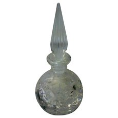 Round Glass Perfume Bottle with Tapered Stopper