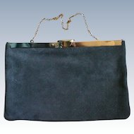 Gray Suede Evening Bag by Etra