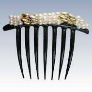 Large Faux Pearl Hair Comb