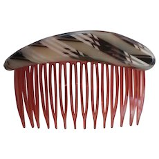 Mid-Century Cellulose Hair Comb