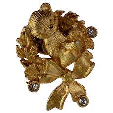Christmas / Holiday Teddy Bear Lapel or Tie Pin