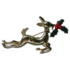 Christmas Holiday Reindeer Pin by Gerry's