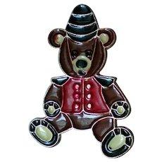 Metal Teddy Bear Christmas Bear Pin for Holidays