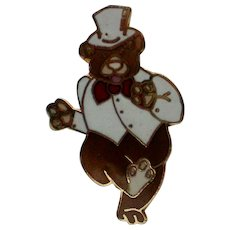 Bear Tie Tack Hat Pin