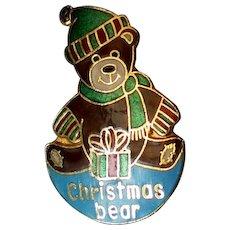 Metal Christmas Bear Pin by Pinnacle Designs