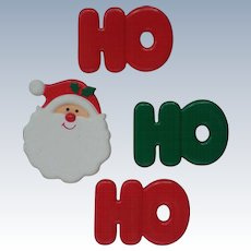 HO HO HO Santa Button Covers