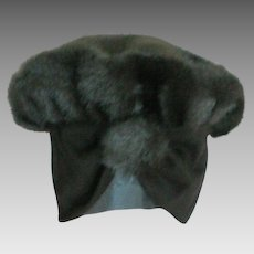 Faux Fur Hat with Jersey Ear Covering