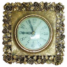 Matson Dusty Rose Pattern Electric Clock