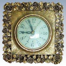 Matson Dusty Rose Pattern Electric Clock