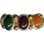 Chunky Multi-Colored Oval Cabochon Link Bracelet