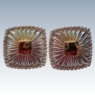 Avon NR for Nina Ricci Silver & Gold tone Pierced Earrings