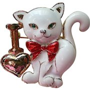 I Love Cats Enameled Pin