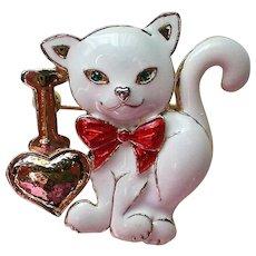 I Love Cats Enameled Pin
