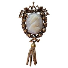 Florenza Carved Shell Cameo Brooch