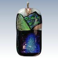 Stunning Dichroic Glass Pendant