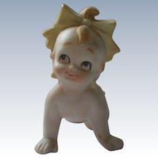 Bisque Kewpie Baby Girl Doll