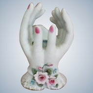 Hand Painted Lefton Ladies Hands Porcelain Bud Vase